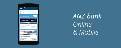 ANZ bank online mobile